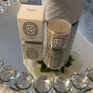 Travel size candle from Diptyque